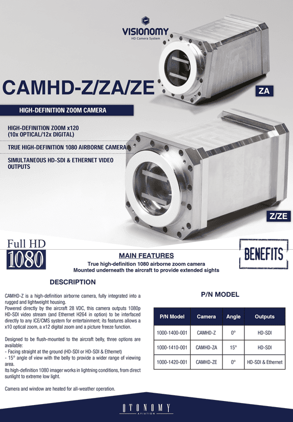CAMHD-Z/ZA/ZE