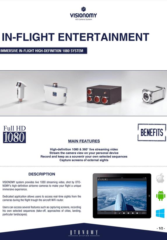 VISIONOMY IN FLIGHT ENTERTAINMENT