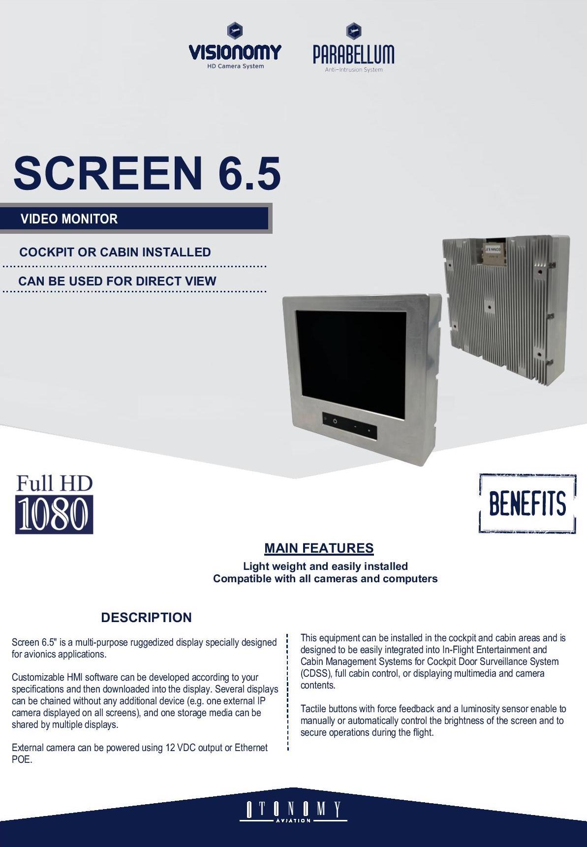 """Ecran 6""""5 documentation"""